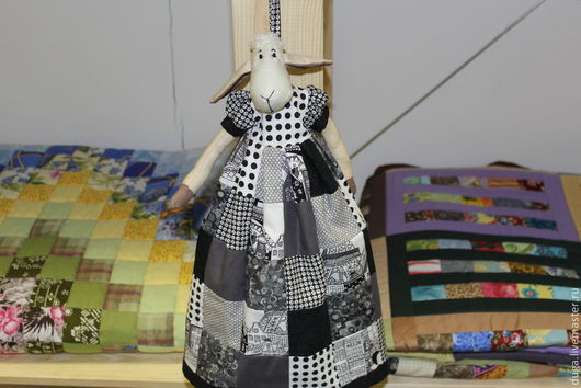 Куклы Тильды ручной работы. Ярмарка Мастеров - ручная работа. Купить «Овечка Сара» № 353. Handmade. Чёрно-белый