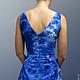 Dress 'Blue chrysanthemum'. Dresses. natakornakova (natakornakova). My Livemaster. Фото №5