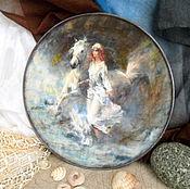Картины и панно ручной работы. Ярмарка Мастеров - ручная работа Декоративная тарелка  Морской ветерок. Handmade.
