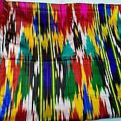 Материалы для творчества ручной работы. Ярмарка Мастеров - ручная работа Узбекский винтажный шелковый икат Хан атлас 2,95 метра. Handmade.
