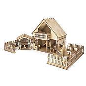 Кукольный домик с беседкой и забочиком
