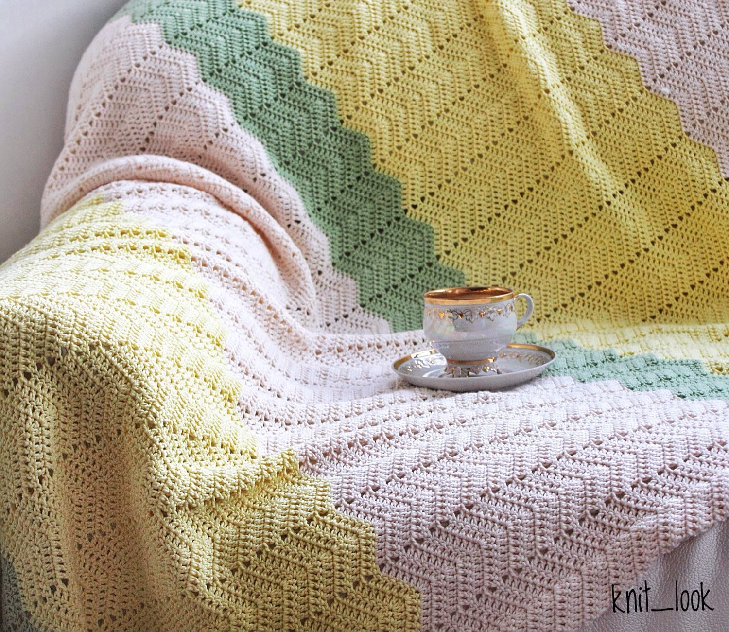Plaid knitted (cotton), Blankets, Krasnogorsk,  Фото №1
