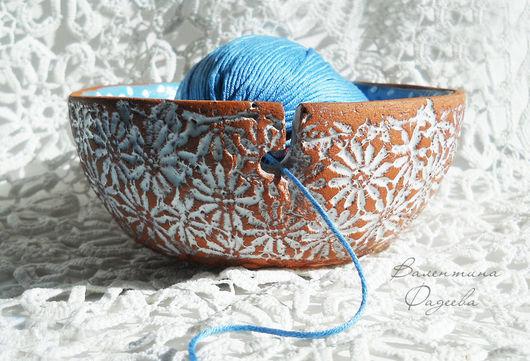 Персональные подарки ручной работы. Ярмарка Мастеров - ручная работа. Купить Чаша для вязания. Handmade. Керамика, вязаный, авторская керамика