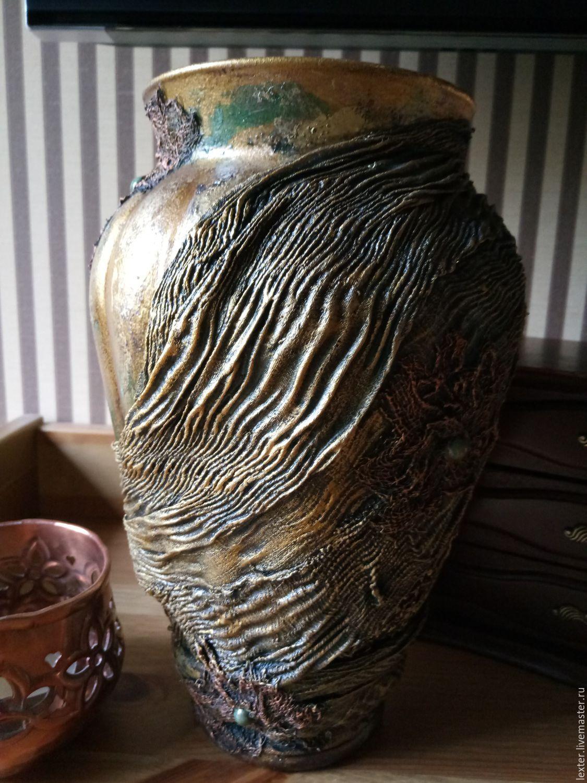 Вазы ручной работы. Стеклянная ваза Восточный базар