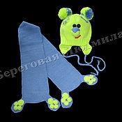 Работы для детей, ручной работы. Ярмарка Мастеров - ручная работа Шапка и шарф вязаные для детей. Handmade.