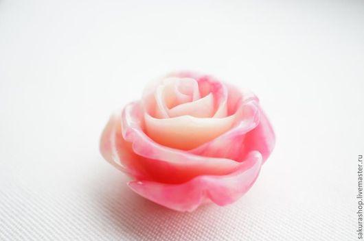 Для украшений ручной работы. Ярмарка Мастеров - ручная работа. Купить Роза из коралла подвеска-бусина 35 мм. Handmade.