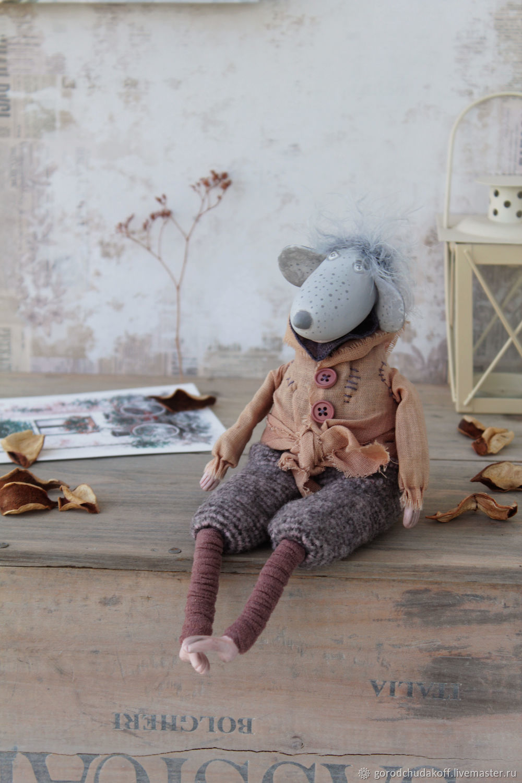 Animal Toys handmade. Livemaster - handmade. Buy Rats Mathis.Dolls, interior doll, mouse toy, cotton, matt
