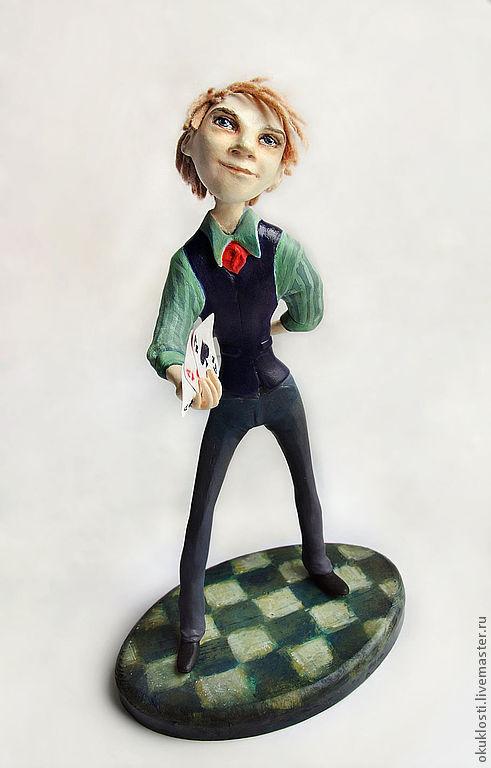 Портретные куклы ручной работы. Ярмарка Мастеров - ручная работа. Купить Джокер. Handmade. Авторская кукла, джокер, фокусник