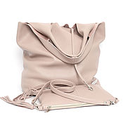 Сумки и аксессуары handmade. Livemaster - original item Powdery pink Bag medium Package Bag shopper hobo Mike. Handmade.
