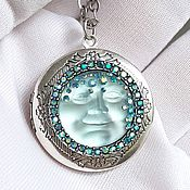 Винтаж handmade. Livemaster - original item Locket on a chain Goddess Moon,Kirks Folly,USA,a gift to your beloved. Handmade.
