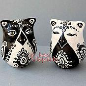 """Музыкальные инструменты handmade. Livemaster - original item Hand-made clay Ocarina (Tin whistle) """"Owl"""". Exclusive whistle. Handmade."""