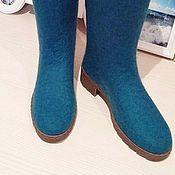 """Обувь ручной работы. Ярмарка Мастеров - ручная работа Валенки на подошве, Сапоги ручной работы """"Azure"""". Handmade."""