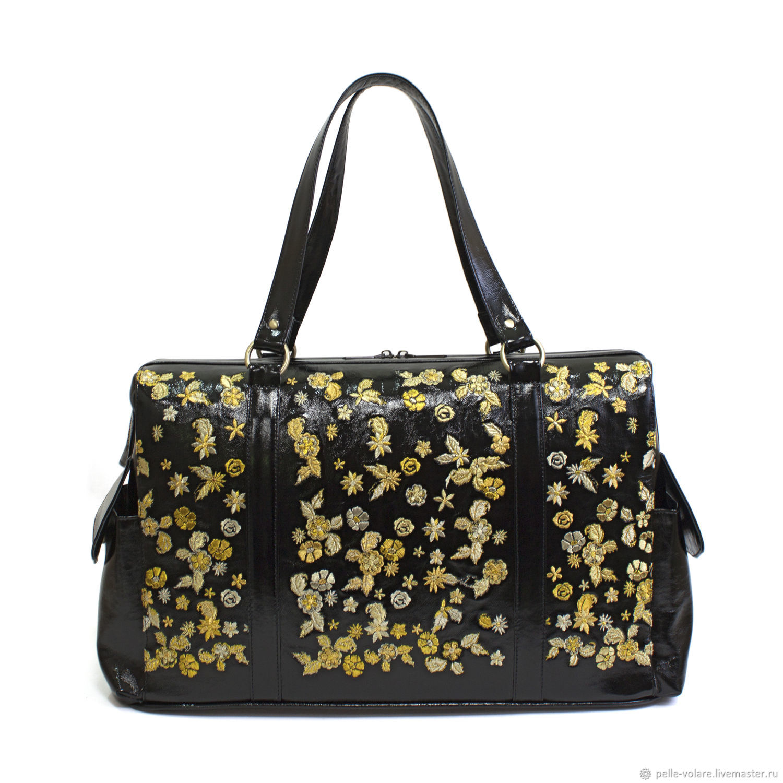 Travel bag ' Golden flowers', Valise, St. Petersburg,  Фото №1