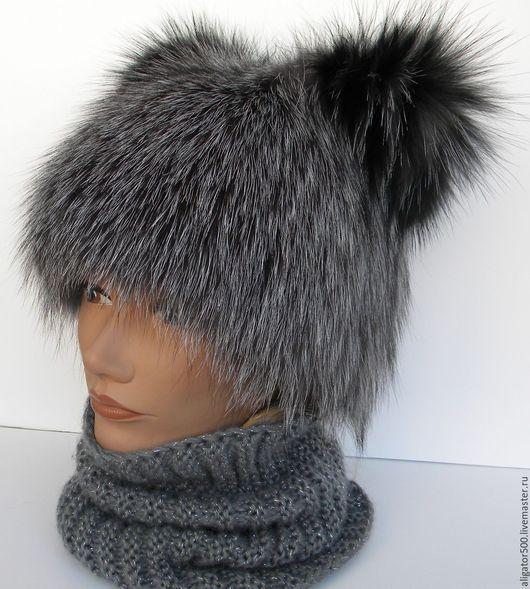 """Шапки ручной работы. Ярмарка Мастеров - ручная работа. Купить Меховая женская шапка """"Киска"""" из натурального меха. Handmade."""