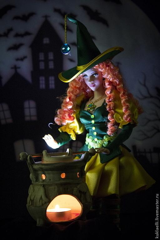 Коллекционные куклы ручной работы. Ярмарка Мастеров - ручная работа. Купить Кукла Ведьмочка. Handmade. Ведьмочка, колдунья