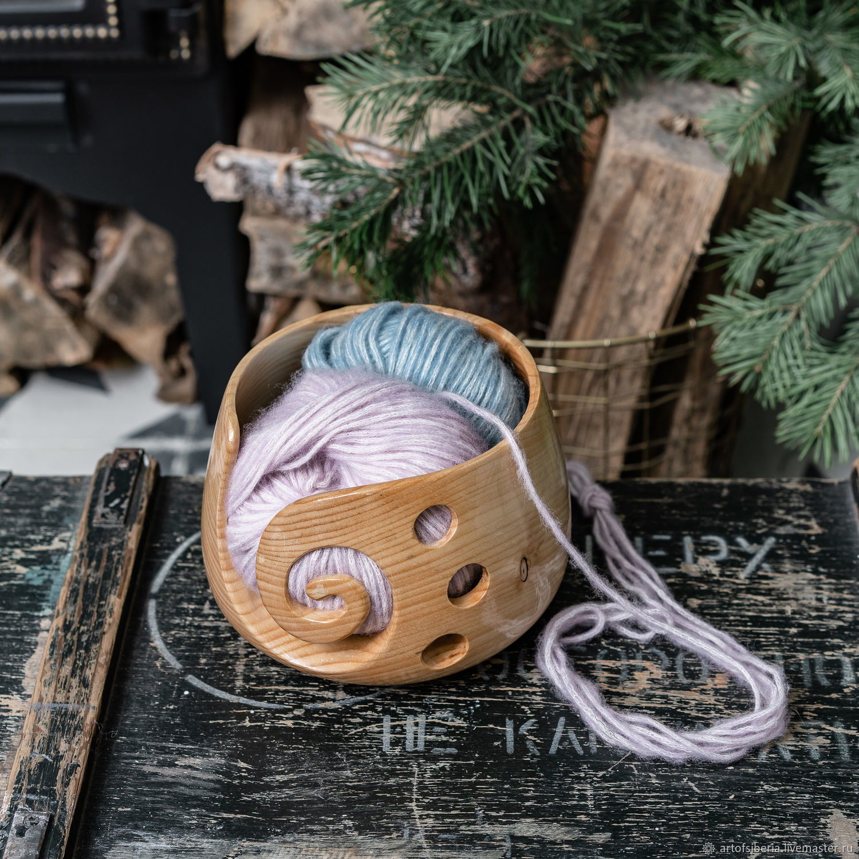 Деревянная клубочница из дерева сибирского кедра KL13, Инструменты для вязания, Новокузнецк,  Фото №1