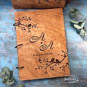 Свадебный салон handmade. Livemaster - original item Book wishes wooden. A4. Handmade.