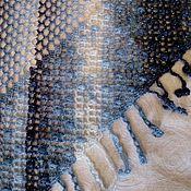 Аксессуары handmade. Livemaster - original item Striped shawl with lurex. Handmade.