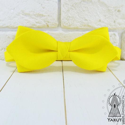 Галстуки, бабочки ручной работы. Ярмарка Мастеров - ручная работа. Купить Галстук бабочка Желтое драже лепесток / бабочка-галстук. Handmade.