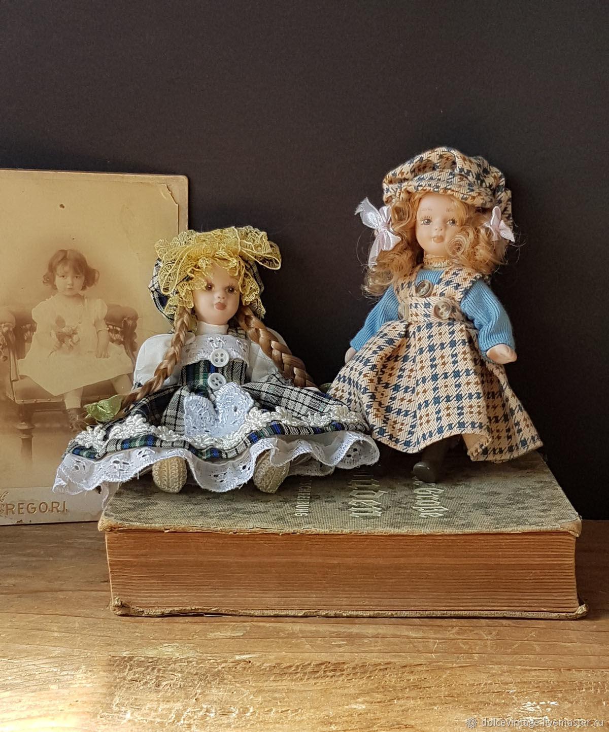 Винтаж: Две винтажные итальянские фарфоровые куклы,коллекционные куклы, Куклы винтажные, Тренто,  Фото №1