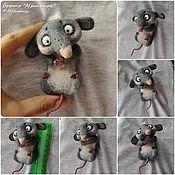 Украшения ручной работы. Ярмарка Мастеров - ручная работа Броши-мышки для примера, сухое валяние. Handmade.