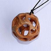 Украшения handmade. Livemaster - original item Wood pendants Sfera (beech). Handmade.