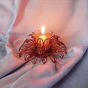 """Подсвечники ручной работы. Ярмарка Мастеров - ручная работа Подсвечник из меди """" Цветок"""". Handmade."""