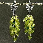Украшения handmade. Livemaster - original item Chrysolite earrings with Swarovski crystals. Handmade.