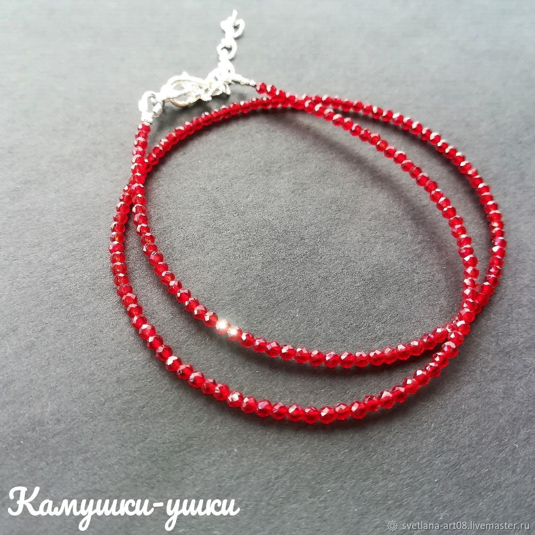 Choker 'Ruby' artificial ruby, Chokers, Sergiev Posad,  Фото №1