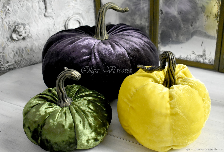 3 Velvet pumpkins interior, Interior elements, Lipetsk,  Фото №1