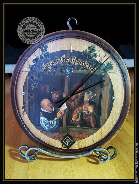 Подарочные наборы ручной работы. Ярмарка Мастеров - ручная работа. Купить Часы Barrel head wall clock. Handmade. Часы