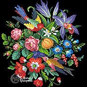 """Материалы для творчества ручной работы. Ярмарка Мастеров - ручная работа Схема вышивки """"Птичий дуэт"""". Handmade."""