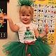 Карнавальные костюмы ручной работы. Ярмарка Мастеров - ручная работа. Купить Новогодний костюм елочки. Handmade. Ярко-зелёный
