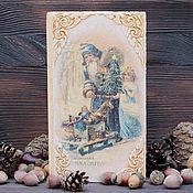 """Подарки к праздникам ручной работы. Ярмарка Мастеров - ручная работа Купюрница """"Рождественское чудо"""". Handmade."""