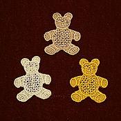 Материалы для творчества handmade. Livemaster - original item embroidered applique Merry bears stripe decal. Handmade.