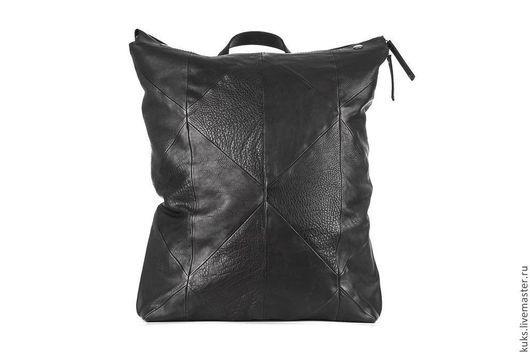 Рюкзаки ручной работы. Ярмарка Мастеров - ручная работа. Купить Рюкзак. Handmade. Черный, рюкзак кожаный, кожа натуральная