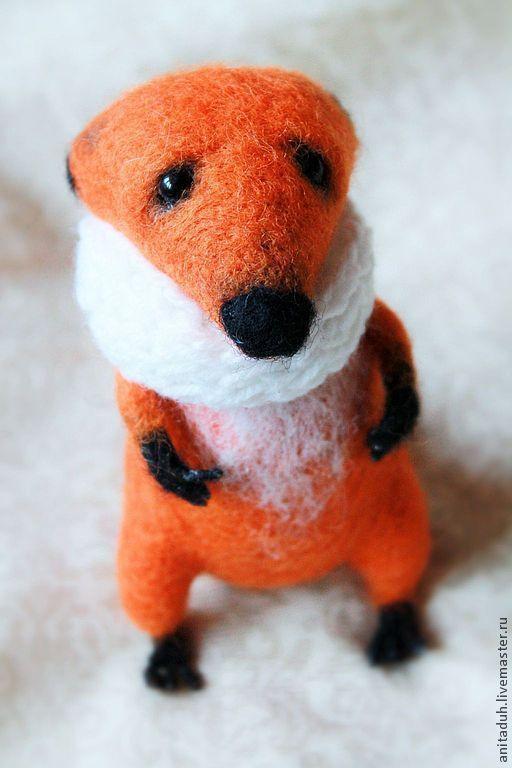 """Игрушки животные, ручной работы. Ярмарка Мастеров - ручная работа. Купить Войлочная игрушка """"Лисенок Бенжи"""". Handmade. Рыжий, лес"""