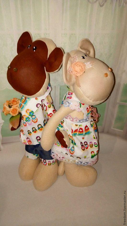 Игрушки животные, ручной работы. Ярмарка Мастеров - ручная работа. Купить парные обезьянки Вики и Лу. Handmade. Комбинированный, подвеска