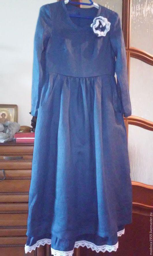 Платья ручной работы. Ярмарка Мастеров - ручная работа. Купить платье-бохо. Handmade. Бохо стиль, льняная одежда