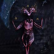 """Чердачная кукла ручной работы. Ярмарка Мастеров - ручная работа Кукла: """"Baphomet"""".. Handmade."""