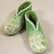 """Обувь ручной работы handmade. Livemaster - original item Женские домашние валенки """"Весенние"""". Handmade."""