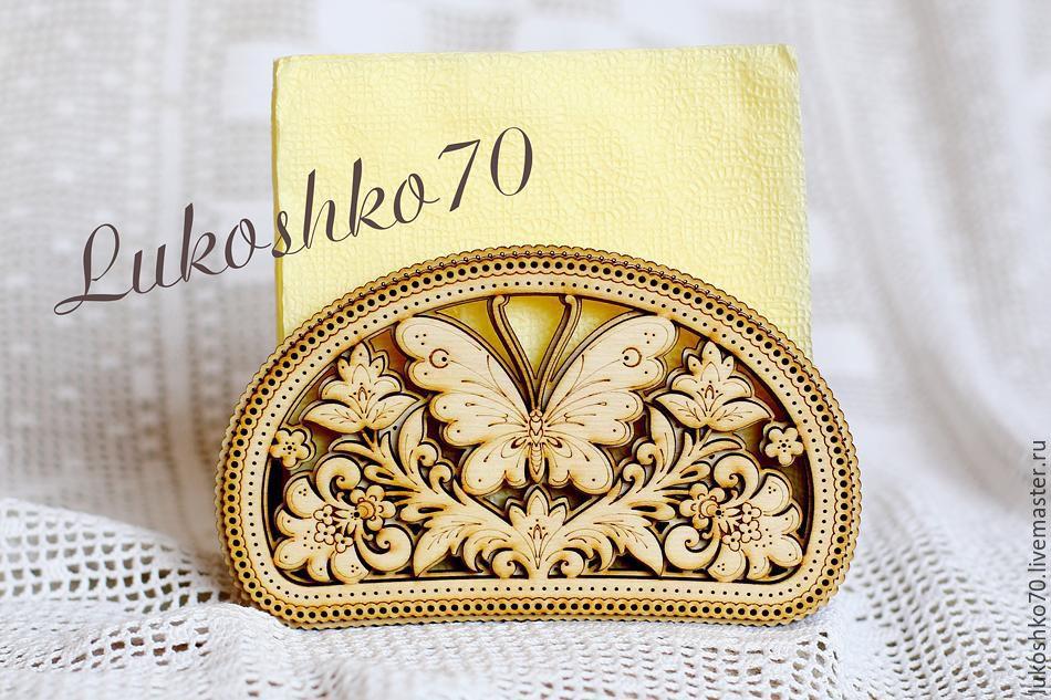 Napkin holder wood Butterfly. gift for kitchen, Napkin holders, Tomsk,  Фото №1