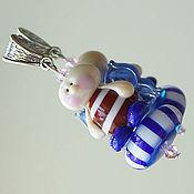 Украшения ручной работы. Ярмарка Мастеров - ручная работа Кулон lampwork Морской ангел. Handmade.