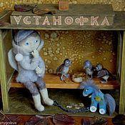 """Для дома и интерьера ручной работы. Ярмарка Мастеров - ручная работа ночник """" АстаноФка или Ждать"""" (серия """"Ангел в Доме""""). Handmade."""