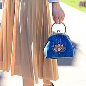 Сумки и аксессуары handmade. Livemaster - original item In stock! Velvet handbag sun Lotus with embroidery. Handmade.