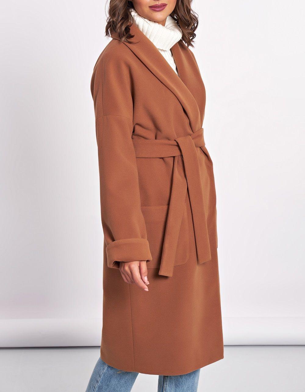 Пальто песочно-коричневое, Верхняя одежда, Москва, Фото №1