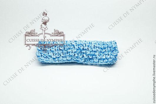Шитье ручной работы. Ярмарка Мастеров - ручная работа. Купить Повязка на голову, голубая, 6020. Handmade. Топ, топ акриловый