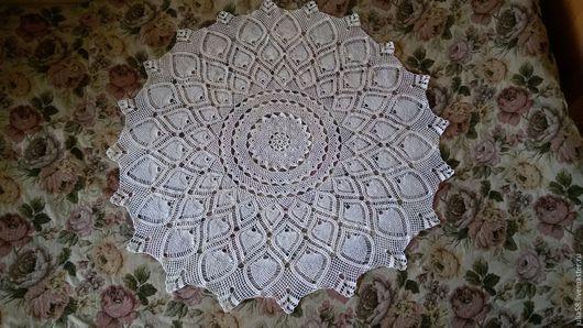 Текстиль, ковры ручной работы. Ярмарка Мастеров - ручная работа. Купить Скатерть белая. Handmade. Белый, скатерть, скатерть крючком