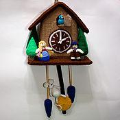 Для дома и интерьера ручной работы. Ярмарка Мастеров - ручная работа Вязаные часы с кукушкой. Handmade.