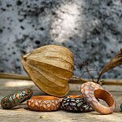 Украшения ручной работы. Ярмарка Мастеров - ручная работа Кольца из красной глины. Handmade.